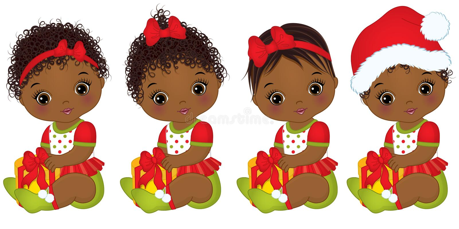 Ethnic Christmas  Clip Art Afro Art African American Clip Art African Girl Silhouette Designer Resources Christmas Clipart