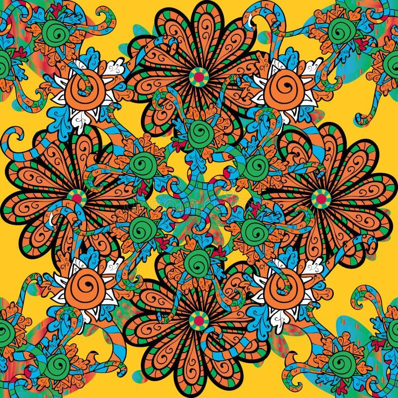 Vector cute Aquarellfarben nahtlose Blumenmuster stock abbildung