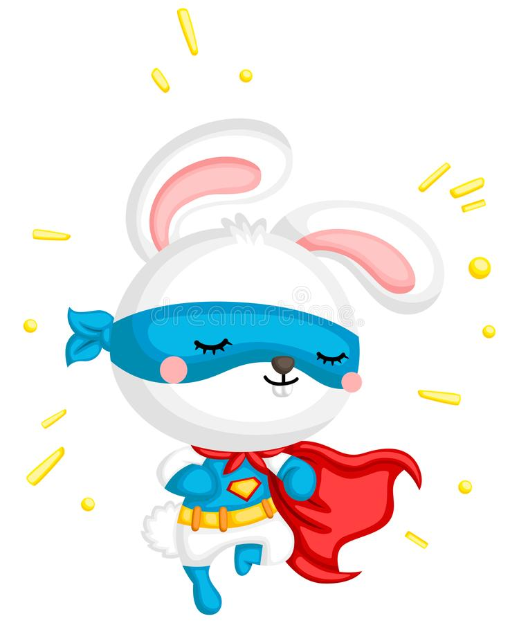 Superhero Bunny. A vector of a cute bunny in a superhero costume royalty free illustration