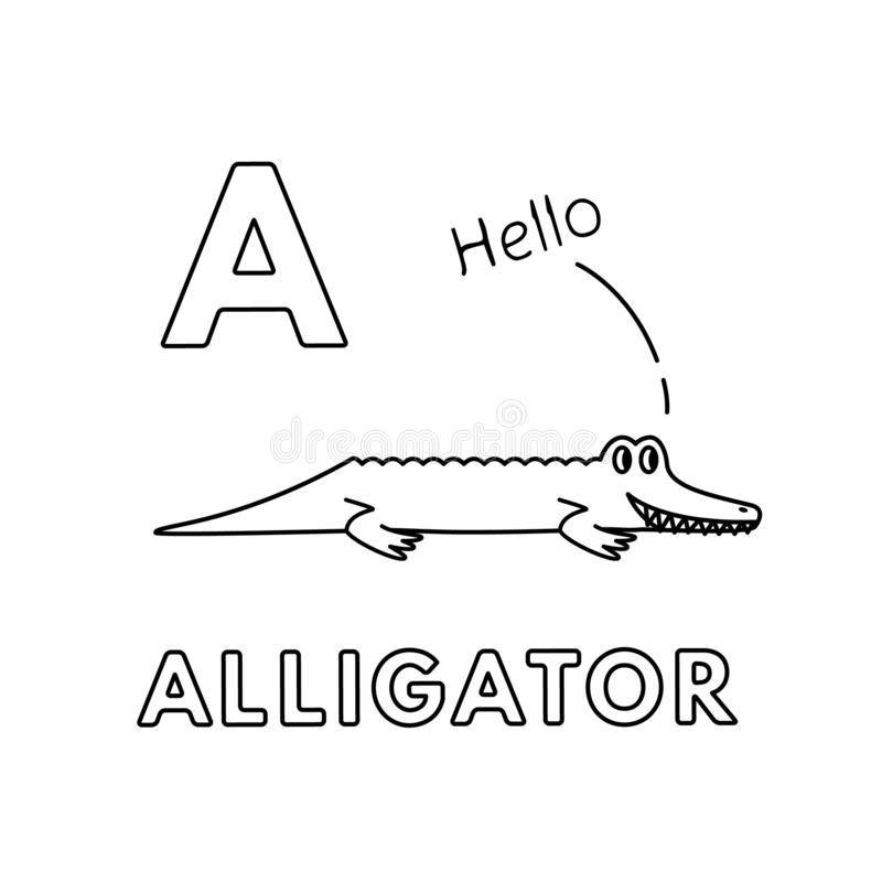 A for alligator coloring page with handwriting practice   Download ...   800x800
