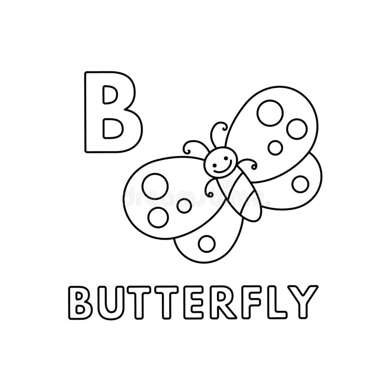 Vector Cute Cartoon Animals Alphabet Butterfly Coloring Pages Stock Vector Illustration Of Book Language 148755842