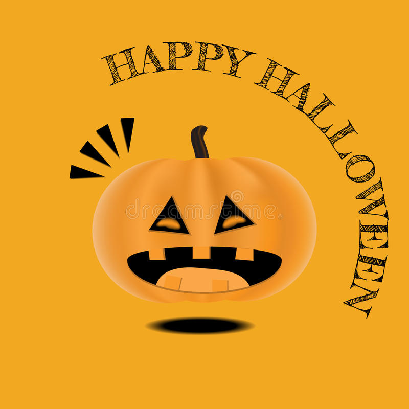 Vector Cute Happy Halloween design template. stock photography