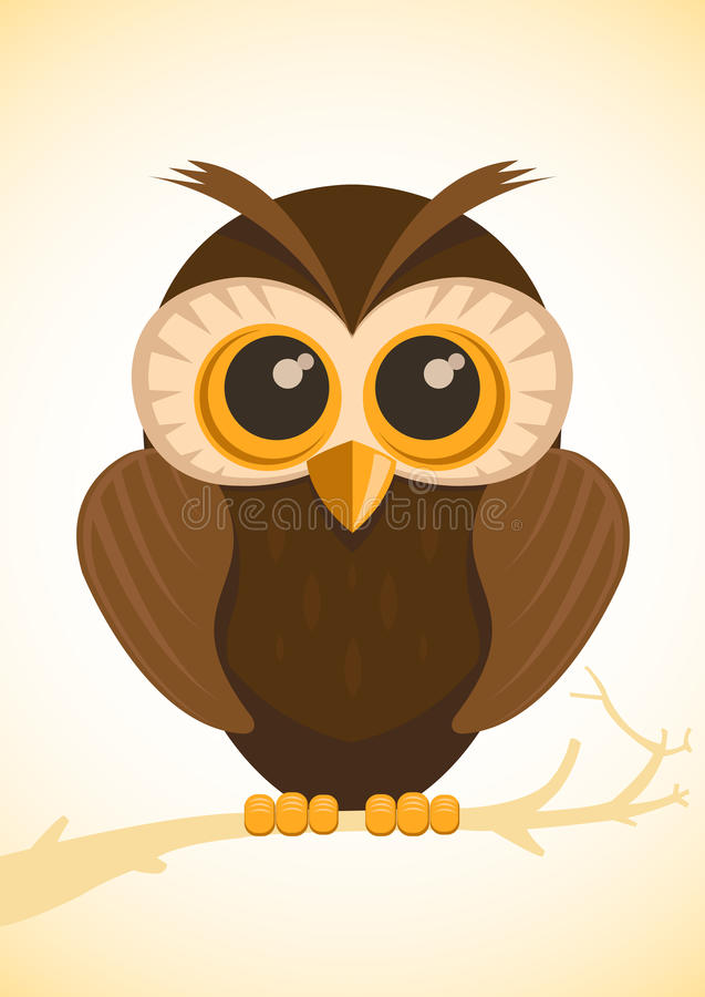 Download Vector cute owl stock vector. Image of animal, clever - 28937970