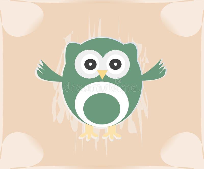 Vector cute owl card / Baby girl arrival royalty free illustration