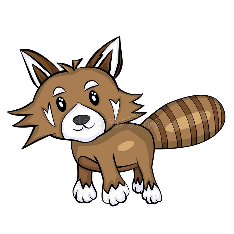 Vector of cute red panda. EPS10. Vector of cute red panda. With shading. EPS10 stock illustration