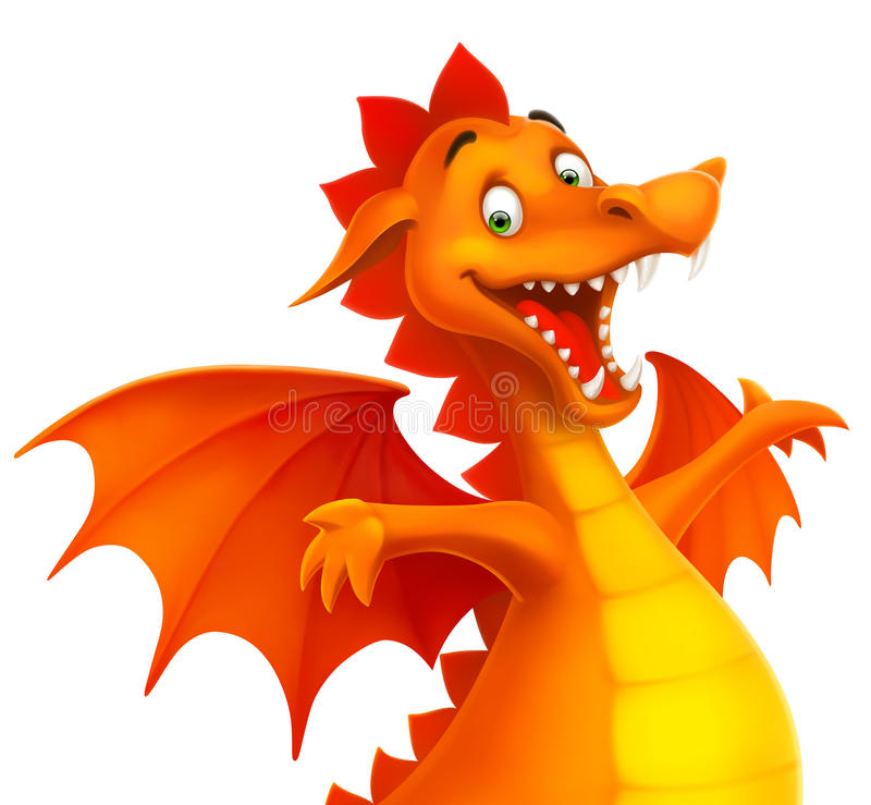Vector cute smiling happy dragon as cartoon or toy vector illustration