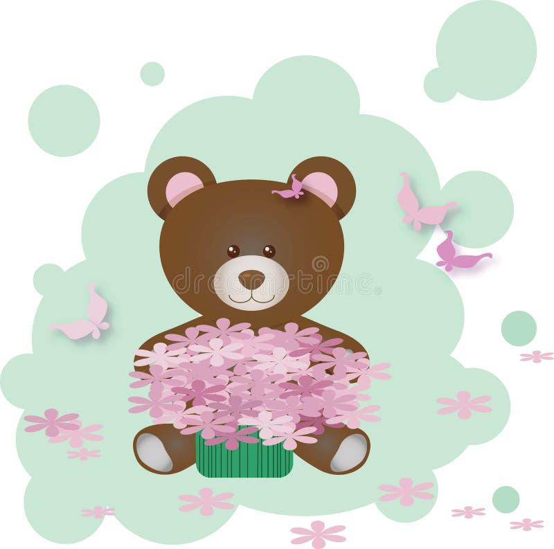 Vector Cute Teddy Bear royalty free illustration