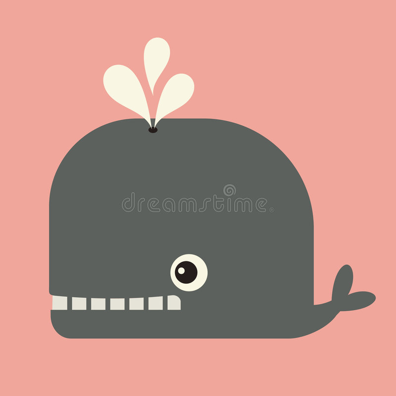 Download Vector cute whale stock vector. Image of clip, kids, vector - 9267082