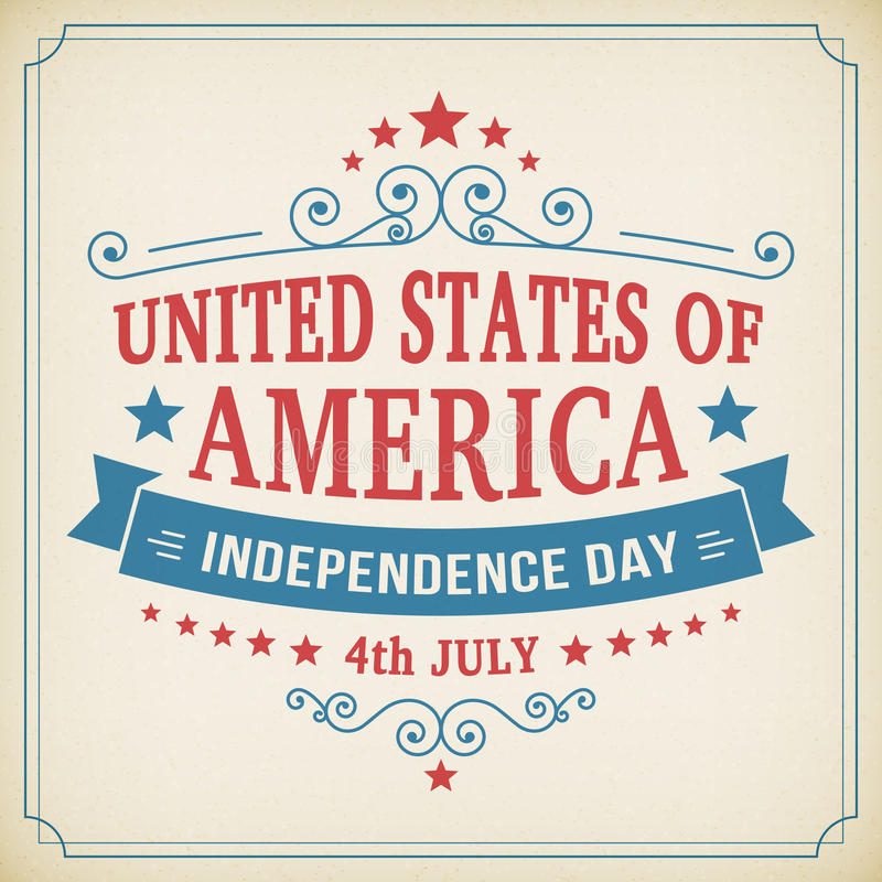 Vector Día de la Independencia cartel de América del 4 de julio stock de ilustración