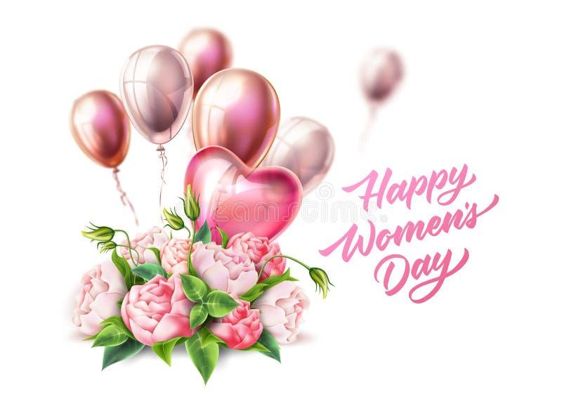 Vector día letras cinta para mujer feliz del 8 de marzo libre illustration