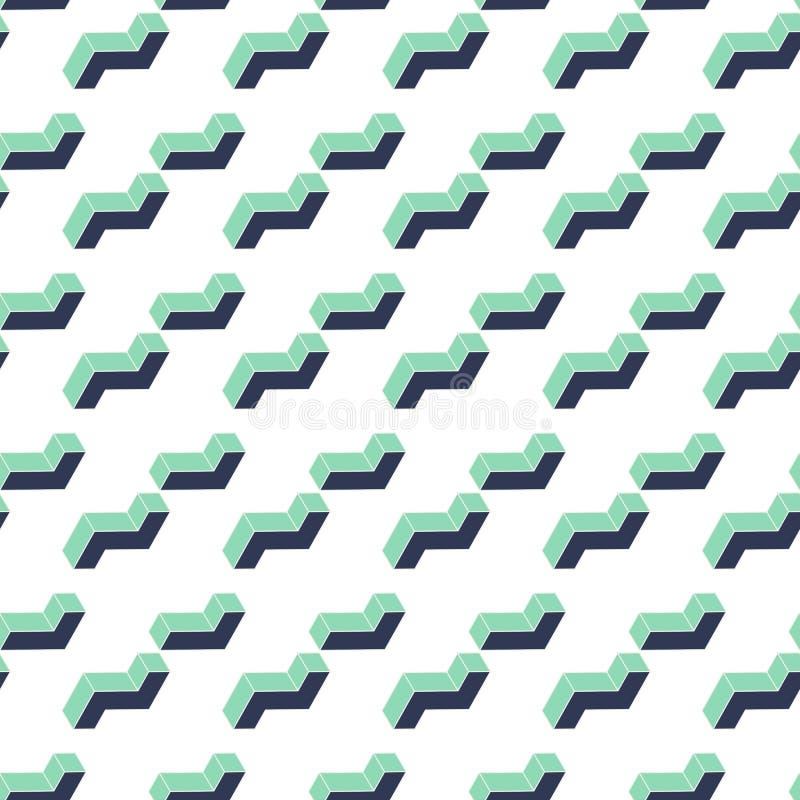 Vector: 3d Abstracte het patroonachtergrond van de afmetingsvorm royalty-vrije illustratie