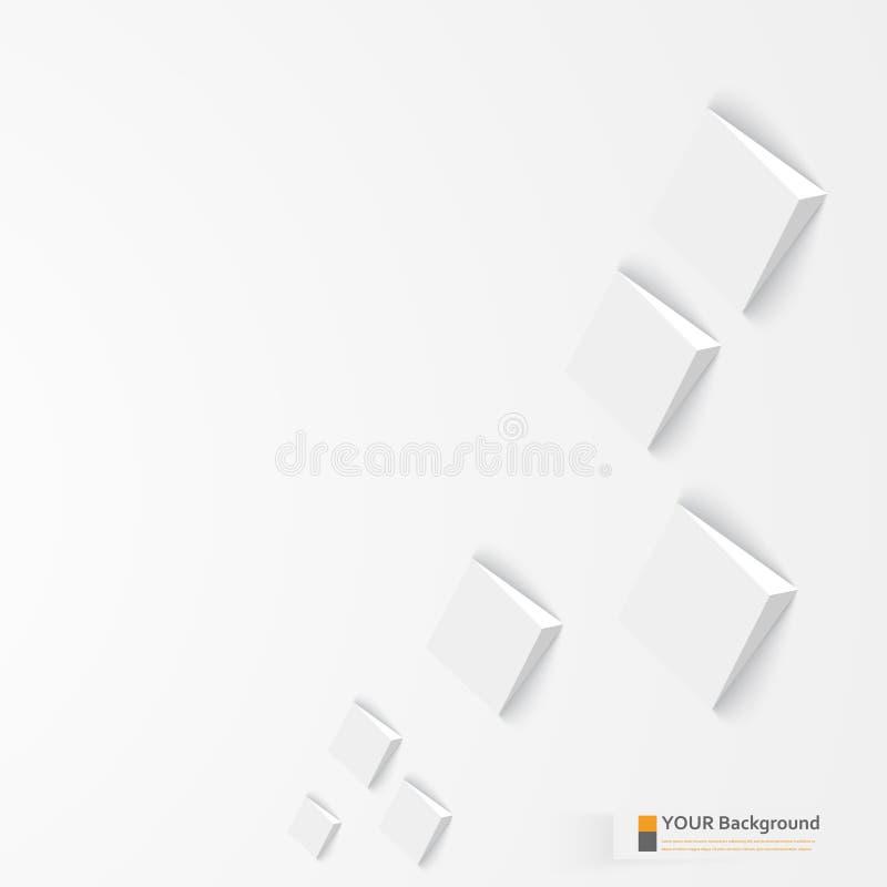 Vector 3d banners en vierkanten Ontwerp royalty-vrije illustratie