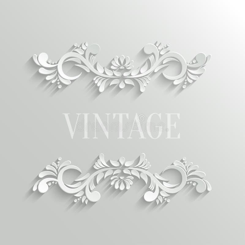 Vector 3d Bloemenuitnodigingskaart royalty-vrije illustratie