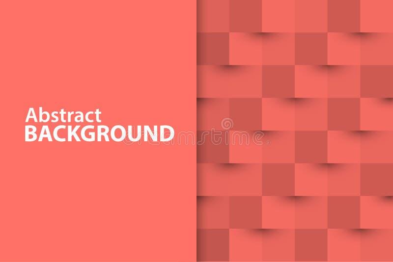 Vector 3d document als achtergrond van vierkanten vector illustratie