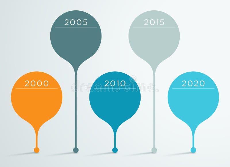 Vector 3d Infographic 3 de la cronología libre illustration