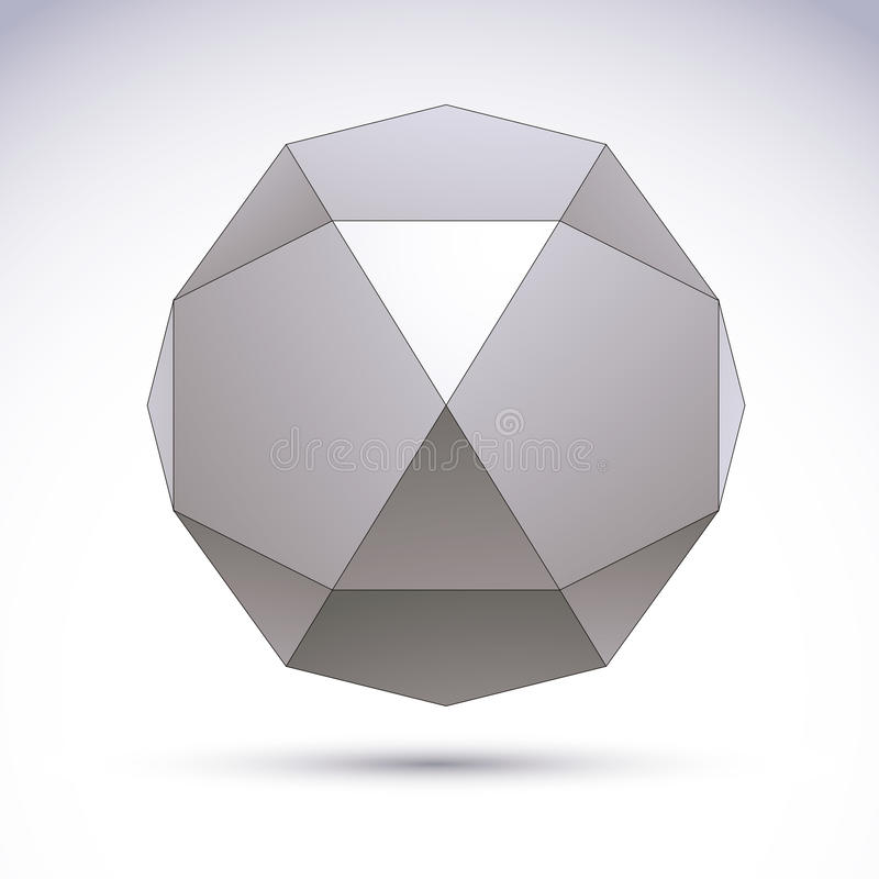 Vector 3D l'oggetto astratto, modello dell'elemento di progettazione per technolog illustrazione di stock