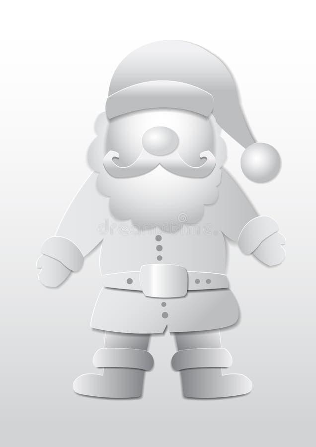 Santa Claus. Vector 3D Paper, Santa Claus in Christmas time vector illustration