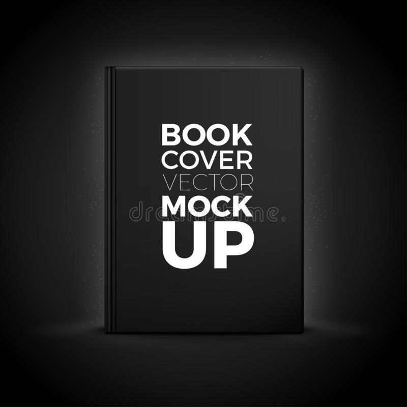 Vector 3d realistic book cover isolated on black stock illustration