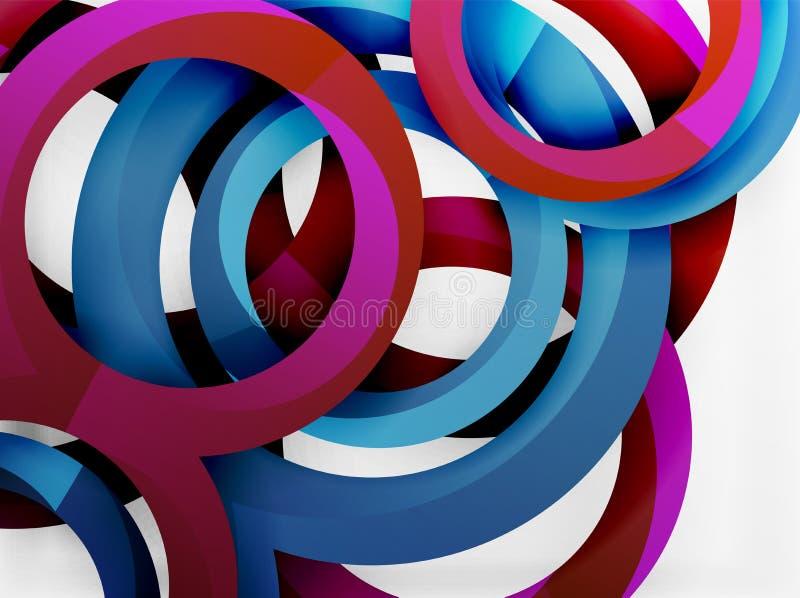 Vector 3d rings design background vector illustration