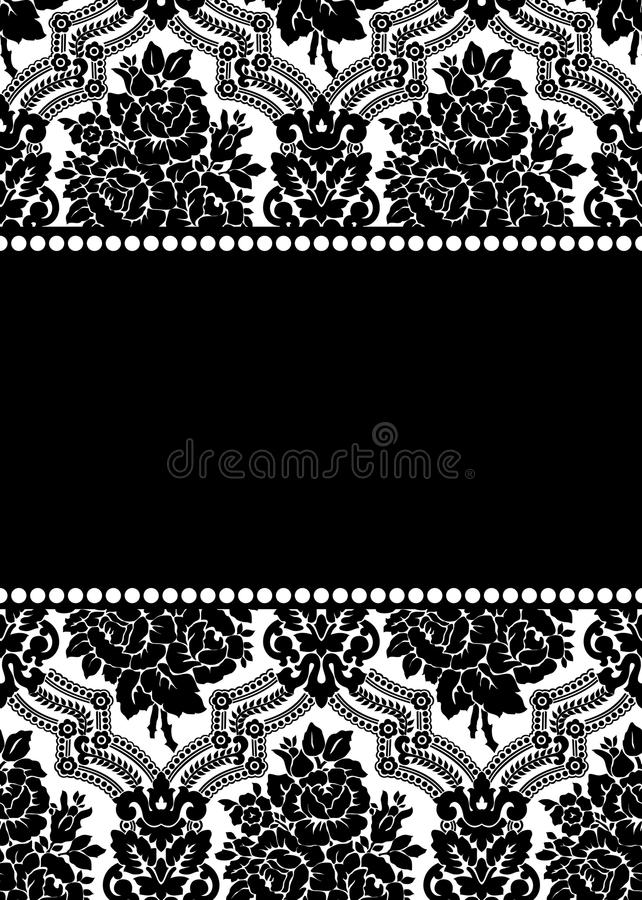Vector damask frame stock vector. Illustration of beautiful - 19129480