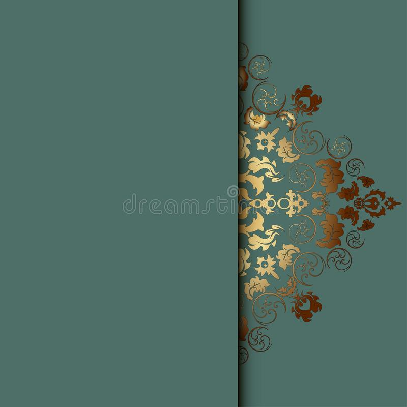 Vector damask frame. Easy to scale and edit. Pattern is included as seamless swatch stock illustration