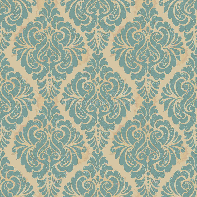 Vector damask seamless pattern background. Elegant vector illustration