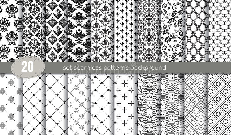 Vector damask seamless pattern background.pattern swatches included for illustrator user vector illustration
