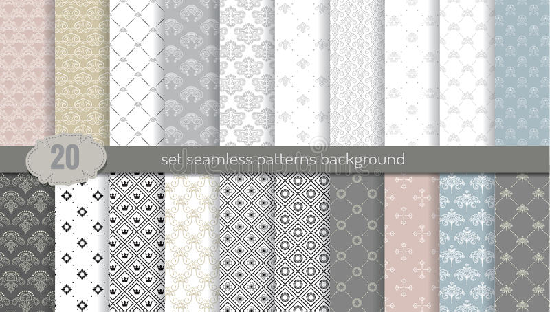 Vector damask seamless pattern background.pattern swatches included for illustrator user, pattern swatches included in file stock illustration