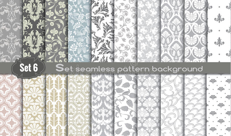 Vector damask seamless pattern background royalty free illustration