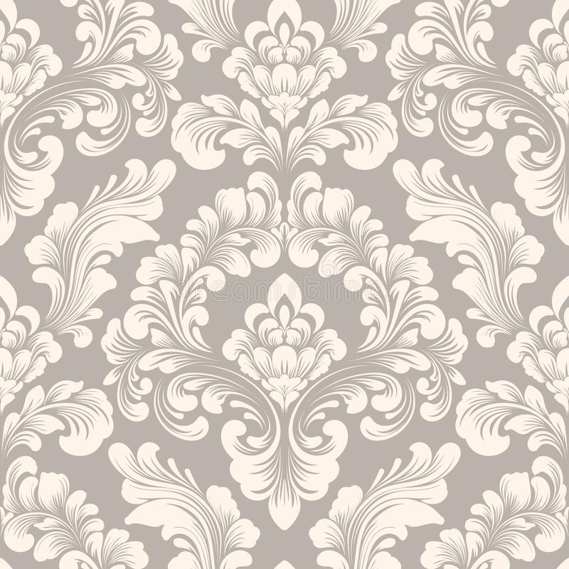 Vector Damask Seamless Pattern Element Classical Luxury