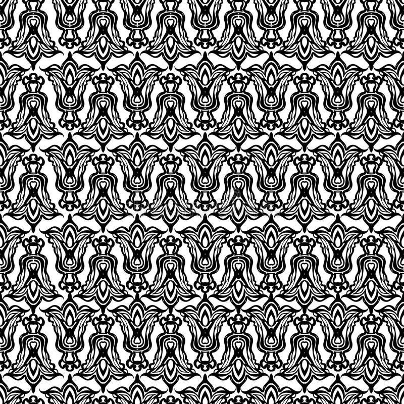Vector damask seamless pattern element. royalty free illustration