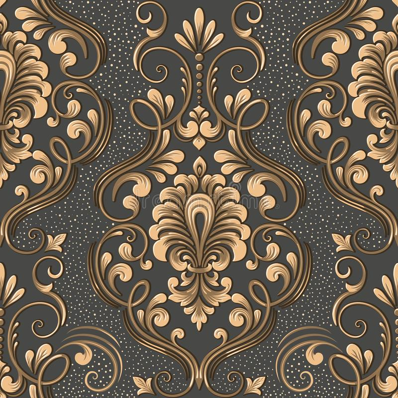 Vector damask seamless pattern element. Elegant luxury texture for wallpapers, backgrounds and page fill. vector illustration