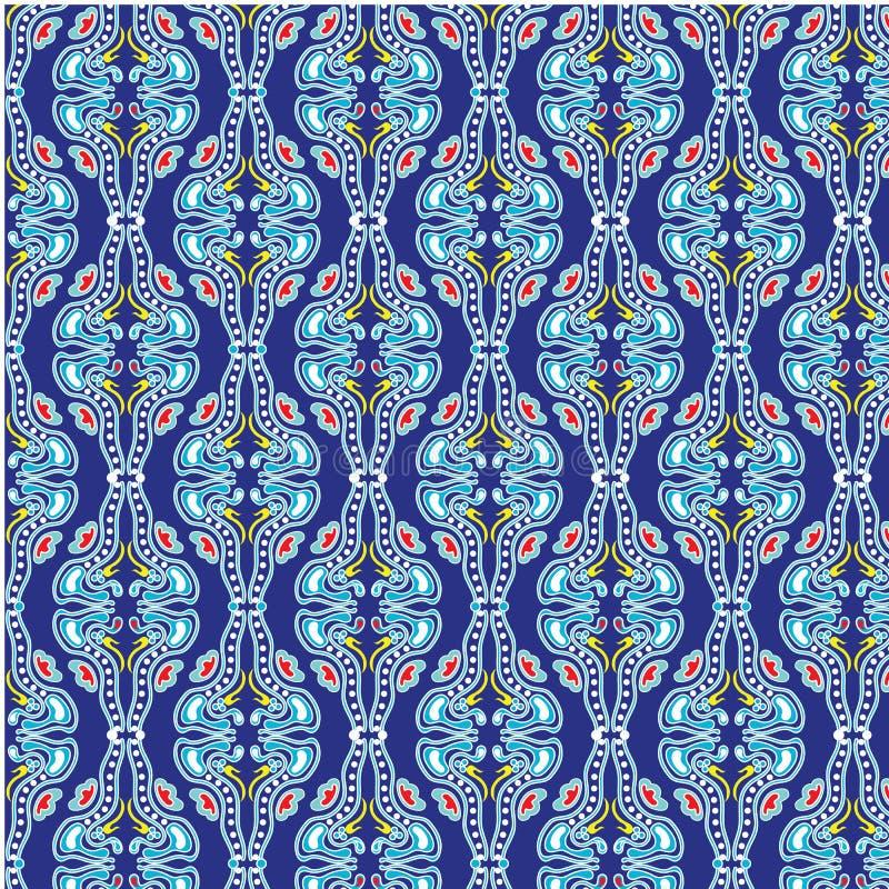Vector damask seamless pattern vector illustration