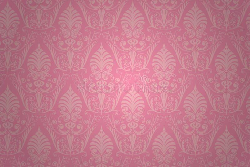 Vector damask seamless pattern. vector illustration