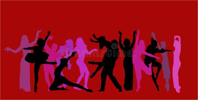 Vector dancer background vector illustration