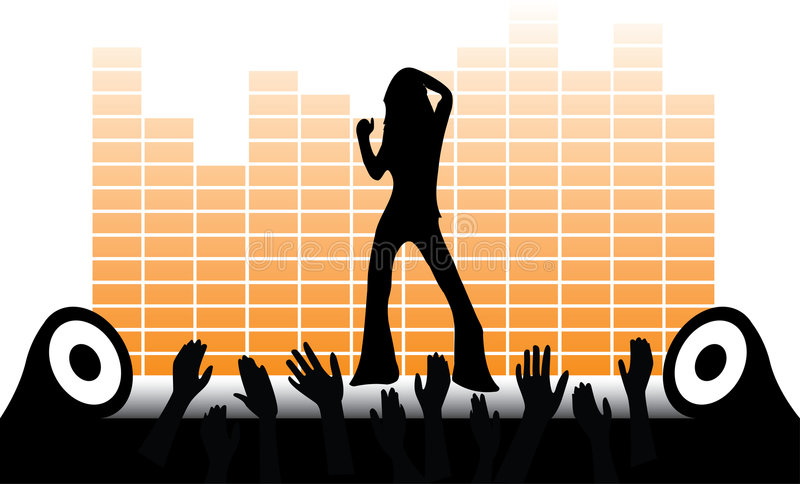 Vector dancing girl stock photography