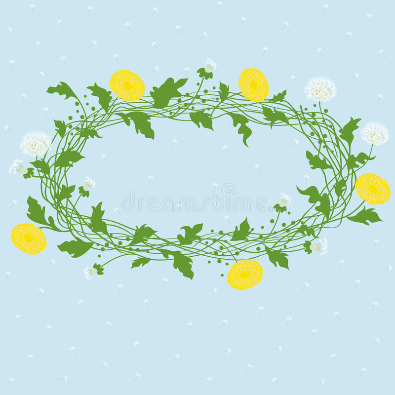 Download Vector dandelion frame stock vector. Image of image, drawing - 25533296