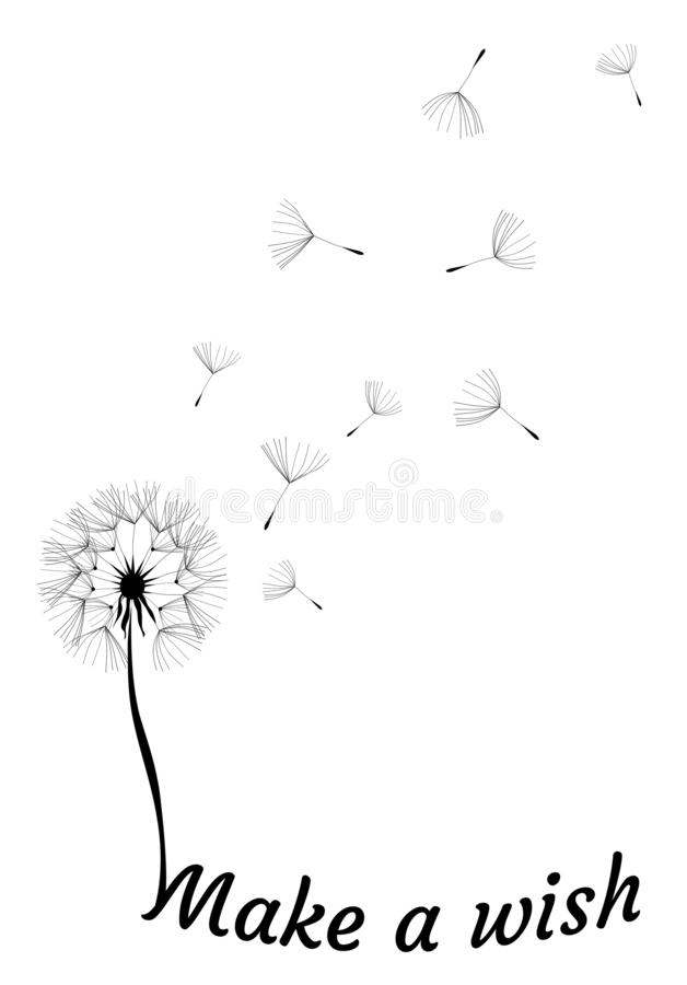 Free Vector Dandelion Make A Wish Stock Images - 153771584