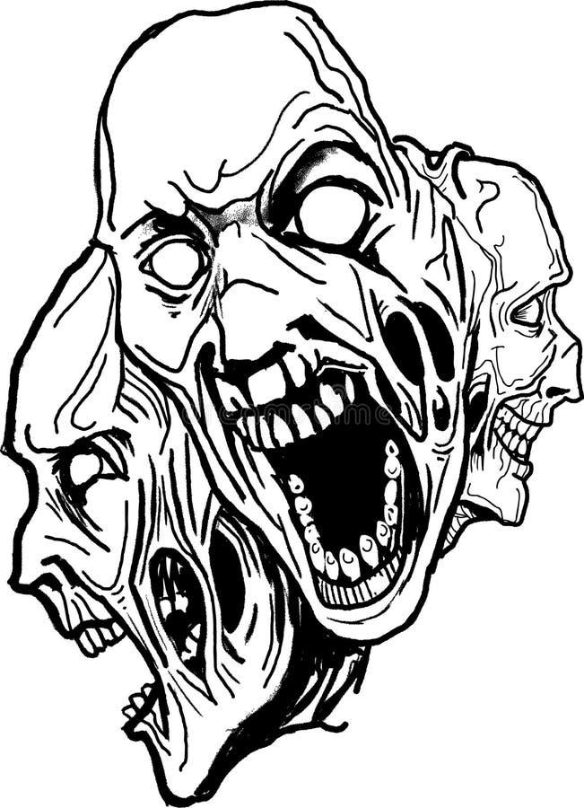 Download Vector dark art . stock vector. Image of creep, face, furious - 3046308