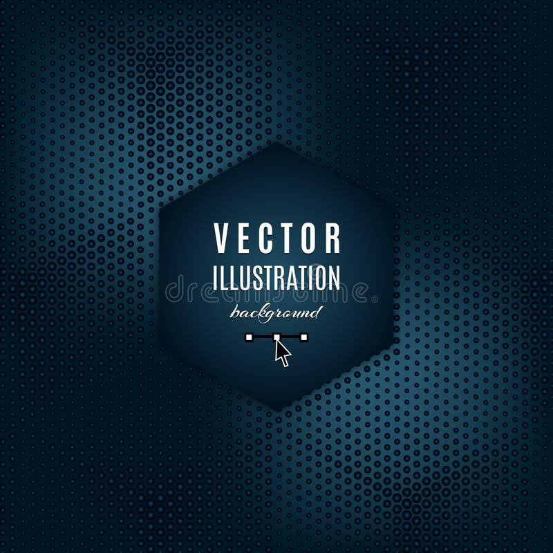 Vector dark blue gray abstract background. Geometric Futuristic poster with light effects. Place for text, Modern design royalty free illustration