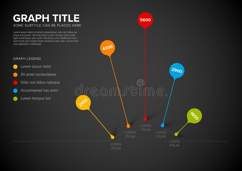 Vector column vertical graph template royalty free illustration
