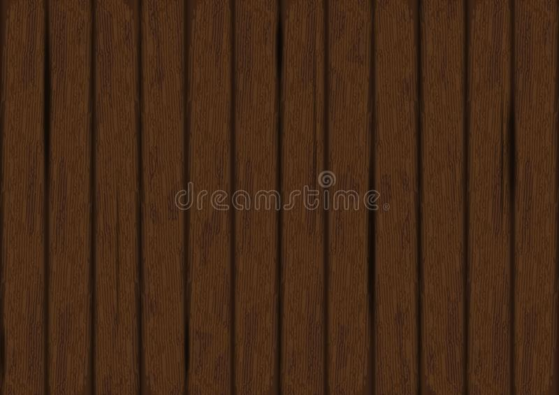 Vector dark wood texture background. Wooden wall. Old grunge retro panels. royalty free illustration