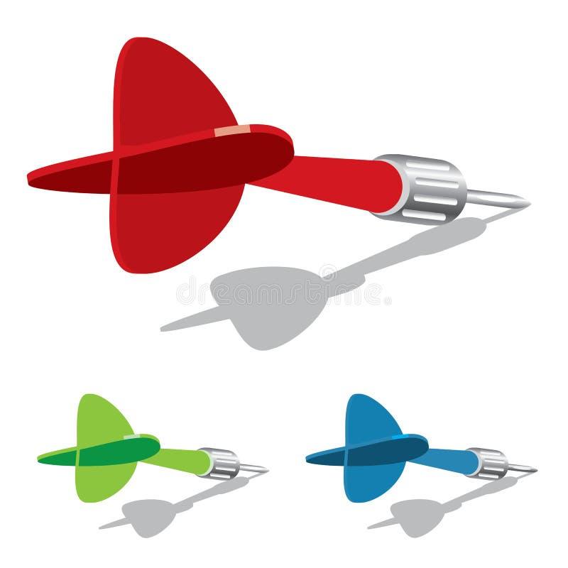 Vector dart royalty free illustration