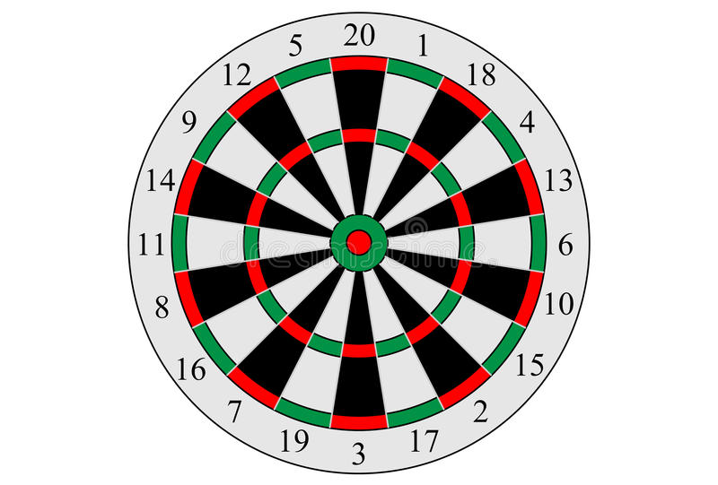 Download Vector Dart Board Target  On White Background. Stock Vector - Image: 83720645