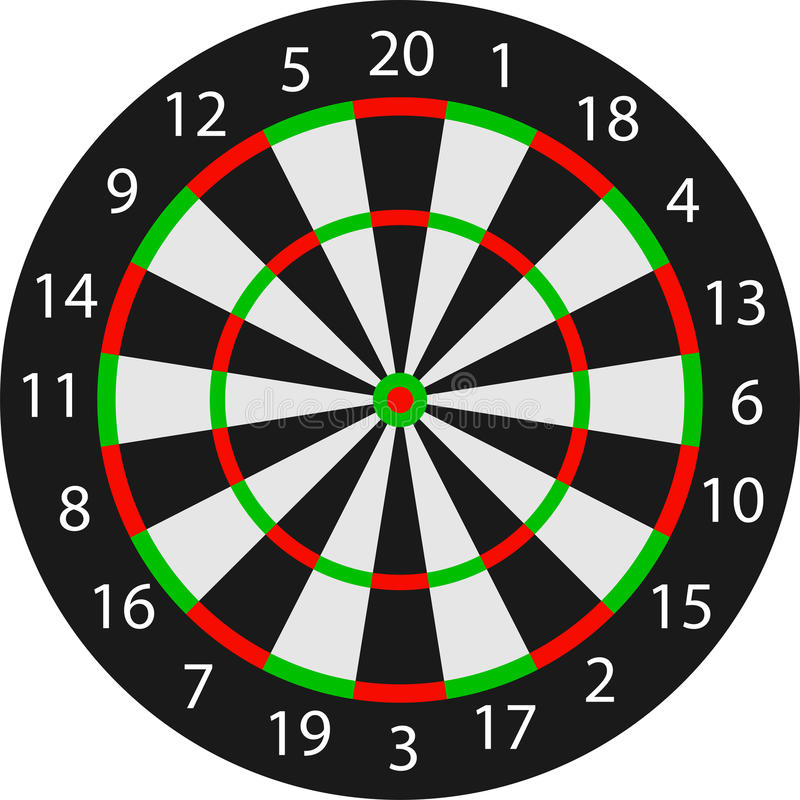Vector dartboard stock illustration