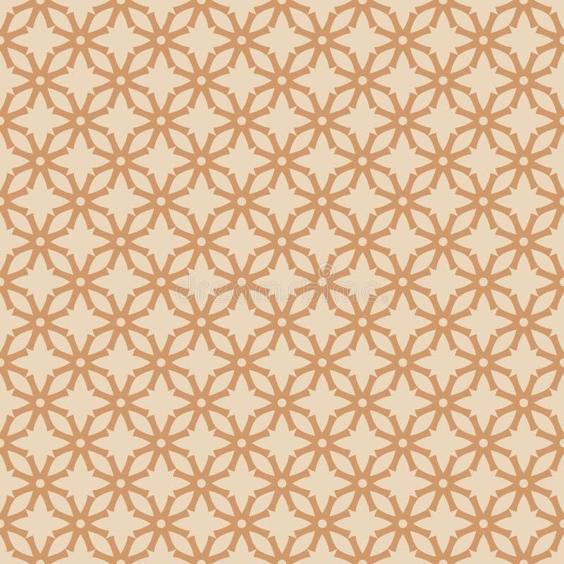 Vector das abstrakte nahtlose Muster, das durch Retro- angespornt wird vektor abbildung