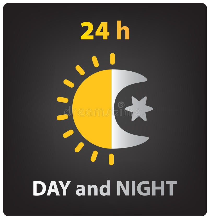 Vector day and night icon royalty free illustration