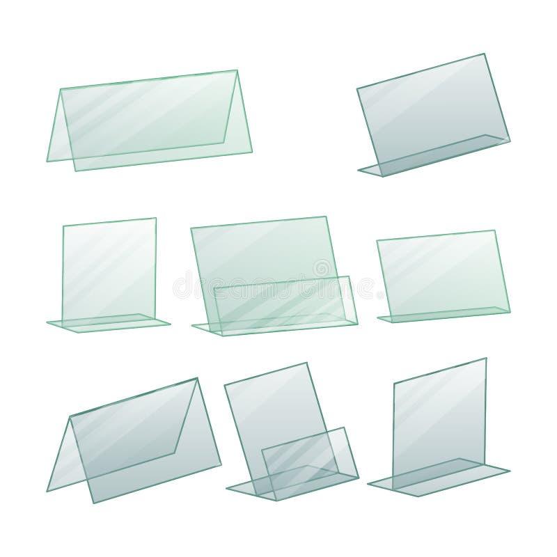 Vector de acrílico del tenedor del soporte de la publicidad Publicidad del tenedor del soporte para el papel Soporte plástico tra libre illustration