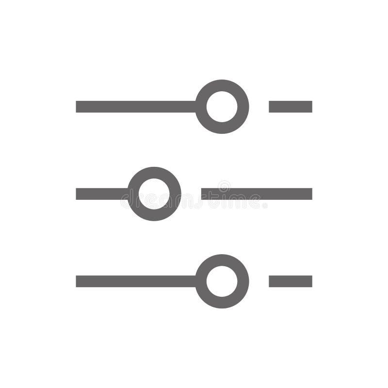 Vector de adaptación eps10 del icono Determinación del icono plano del estilo icono plano del estilo del ajuste gris del color ilustración del vector