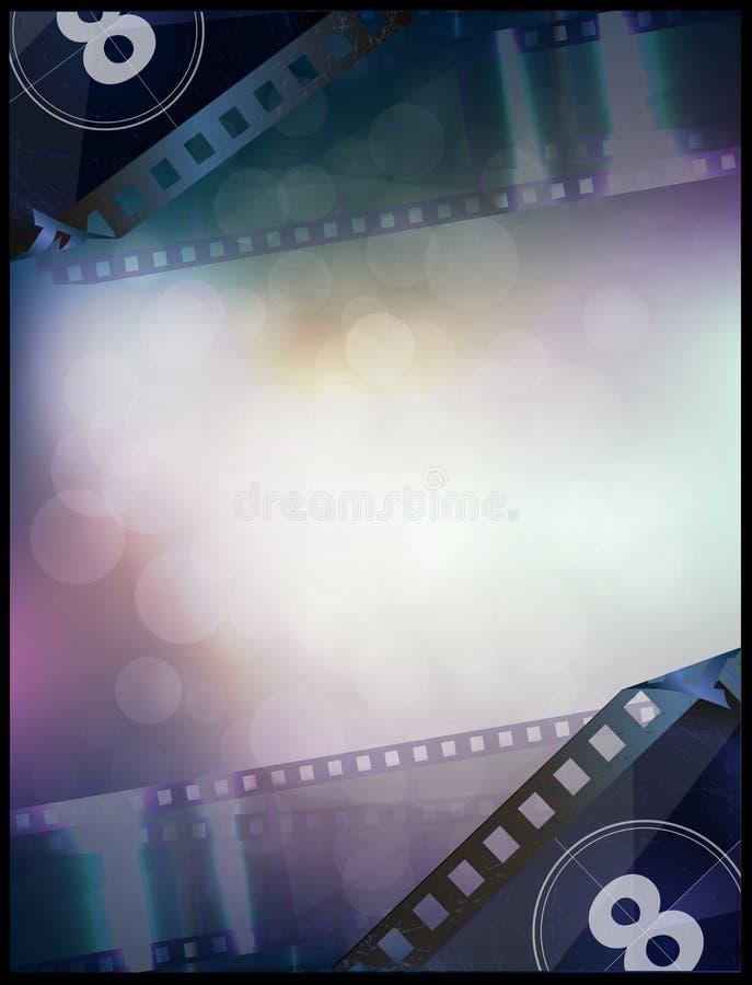Vector de afficheontwerp van de bioskoopfilm royalty-vrije illustratie